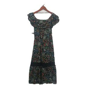 Philosophy Dress Black Floral Maxi Dress